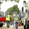 Kyle Bursaw – kbursaw@shawmedia.com<br /> <br /> Nicor workers approach the Monsanto facility in Waterman, Ill. on Tuesday, Sept. 27, 2011.