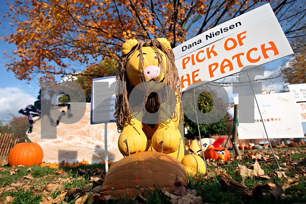Rob Winner – rwinner@shawmedia.com<br /> <br /> Dana Nielsen's pumpkin entry featuring a lion is the 2011 Lions Club Pick of the Patch winner as seen at the Sycamore Pumpkin Festival on Friday, Oct. 28, 2011.