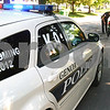 Kyle Bursaw – kbursaw@daily-chronicle.com<br /> <br /> Sergeant Robert Smith talks to a driver on a traffic stop where he issued a warning to the driver for not wearing a seat belt in Genoa, Ill. on Tuesday, June 28, 2011. Smith, who will be the handler for Genoa's next K-9 officer sometime in 2012, currently drives the department's Dodge Charger equipped for a K-9.