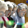 Kyle Bursaw – kbursaw@daily-chronicle.com<br /> <br /> Harvey Blau leads Passover Seder in a song at Congregation Beth Shalom in DeKalb, Ill. on Tuesday, April 19, 2011.