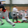 Kyle Bursaw – kbursaw@shawmedia.com<br /> <br /> Northern Illinois wide receiver Willie Clark runs a route during practice at the DeKalb Recreation Center on Wednesday, Dec. 14, 2011.