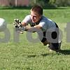 Rob Winner – rwinner@daily-chronicle.com<br /> <br /> Goalkeeper Adam Gawlik, a junior at Hiawatha, makes a save during practice on Thursday, Aug. 11, 2011, at Behnke Park in Kirkland, Ill.