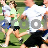 Kyle Bursaw – kbursaw@daily-chronicle.com<br /> <br /> Renae Kurpius, a junior at Genoa-Kingston, does sprints during cross country practice on Thursday, Aug. 11, 2011.
