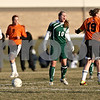 Rob Winner – rwinner@daily-chronicle.com<br /> <br /> Boylan's Alex Fahlbeck (10) and DeKalb's Audrey Mascal (19) react after an altercation during the second half in DeKalb, Ill., on Monday, March 28, 2011. Boylan defeated DeKalb, 3-0.