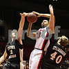 Rob Winner – rwinner@daily-chronicle.com<br /> <br /> Western Michigan forward Nate Hutcheson (11) blocks a shot by Northern Illinois guard Xavier Silas during the first half on Tuesday, Feb. 15, 2011 in DeKalb, Ill.<br /> <br /> **40 is center Matt Stainbrook