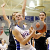 Rob Winner – rwinner@daily-chronicle.com<br /> <br /> Hinckley-Big Rock's Katie Hollis goes to the basket during the third quarter.