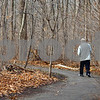 Kyle Bursaw – kbursaw@shawmedia.com<br /> <br /> A man walks a trail at the P.A. Nehring Forest Preserve in DeKalb, Ill. on Monday, Nov. 28, 2011.