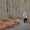 Kyle Bursaw – kbursaw@shawmedia.com<br /> <br /> A man walks a trail at the P.A. Nehring Forest Preserve in DeKalb, Ill. on Monday, Nov. 28, 2011.