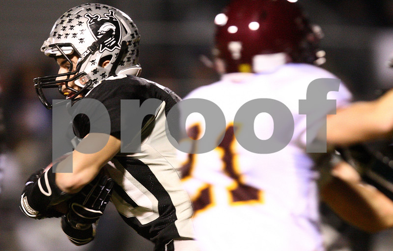 Kyle Bursaw – kbursaw@shawmedia.com<br /> <br /> Kaneland running back Jesse Balluff breaks free for an 81-yard touchdown during the first quarter to tie the game 7-7 at Kaneland High School in Maple Park, Ill. on Saturday, Nov. 19, 2011. Montini defeated Kaneland 35-31 in the Class 5A semifinal.