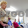 Rob Winner – rwinner@daily-chronicle.com<br /> <br /> Sycamore resident Marlyn Burkart speaks during a Sycamore Park District  meeting on Tuesday evening. Commissioners allowed the public to speak about the release of David Peek.