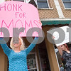 "Curtis Clegg - cclegg@shawsuburban.com<br /> <br /> Leah Stanton of Malta (left) and Jessica Beegle of Rockford hold signs supporting breast feeding in public places near the No Strings Attached resale shop in downtown DeKalb on Thursday, June 2, 2011.  Approximately 50 mothers staged a ""nurse-in"" in front of the store after Nichole Eidsmoe of DeKalb was reportedly told that she could not breast feed her daughter in the shop."