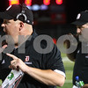 Kyle Bursaw – kbursaw@shawmedia.com<br /> <br /> DeKalb coach Todd Hallaron calls instructions out to the field just before the start of the second quarter at DeKalb High School on Friday, Aug. 31, 2012.