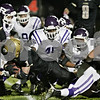 Rob Winner – rwinner@shawmedia.com<br /> <br /> Sycamore running back Austin Culton (1) scores on a rushing touchdown during the first quarter in Sycamore Friday, Oct. 5, 2012.