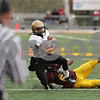 Rob Winner – rwinner@shawmedia.com<br /> <br /> Sycamore running back Dion Hooker (6) carries the ball in the second quarter of a Class 5A playoff game in Lombard, Ill., Saturday, Nov. 3, 2012. Montini defeated Sycamore, 24-22.