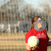 Kyle Bursaw – kbursaw@shawmedia.com<br /> <br /> Indian Creek goalkeeper Carole Fleetwood looks for a teammate to pass the ball back out to during a drill while practicing at Indian Creek Middle School on Friday, March 9, 2012.