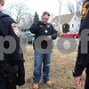 Kyle Bursaw – kbursaw@shawmedia.com<br /> <br /> Detective Mark Nachman makes a phone call to try and track down an individual who was not at home when DeKalb police came to make an arrest on Thursday, Feb. 23, 2012.