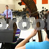 "Kyle Bursaw – kbursaw@shawmedia.com<br /> <br /> Steve Lundin directs the DeKalb High School Jazz Ensemble in the band room on Monday, March 12, 2012. The group will be competing in the 17th annual ""Essentially Ellington"" competition."