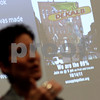 Kyle Bursaw – kbursaw@shawmedia.com<br /> <br /> Camille Piazza talks about the history of Occupy DeKalb in the Campus Life building at Northern Illinois on Thursday, March 29, 2012.