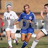 Rob Winner – rwinner@shawmedia.com<br /> <br /> Genoa-Kingston's Rachel Ellstrom (7) controls a ball during the first half in Waterman on Thursday, March 15, 2012. G-K defeated Indian Creek, 2-1.