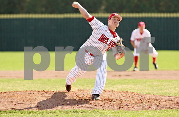 Rob Winner – rwinner@shawmedia.com<br /> <br /> Northern Illinois pitcher Eli Anderson delivers a pitch during the third inning in DeKalb on Tuesday afternoon.