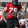 Rob Winner – rwinner@shawmedia.com<br /> <br /> Northern Illinois offensive lineman Matt Krempel during practice at Huskie Stadium in DeKalb Friday, April 6, 2012.