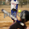 Rob Winner – rwinner@shawmedia.com<br /> <br /> Genoa-Kingston pitcher Danielle Engle delivers a pitch to Indian Creek batter Sarah Dempsey during the top of the fifth inning in Genoa on Wednesday. GK defeated Indian Creek, 16-0, in five innings.