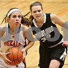 Rob Winner – rwinner@shawmedia.com<br /> <br /> DeKalb's Alli Smith goes to the basket during the third quarter in DeKalb on Tuesday, Jan. 31, 2012. DeKalb defeated Kaneland, 46-31.