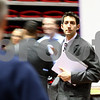 Kyle Bursaw – kbursaw@shawmedia.com<br /> <br /> Scott Morris, an electrical engineering major at NIU, makes his way around the track in the Convocation Center where about 150 employers came to meet with candidates at a full-time job fair on Wednesday, Feb. 22, 2012.