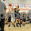 Hiawatha's Savanna Campell (30) takes contact from an Aquin opponent on Monday night in Larnark. (Ryan Gaines)