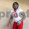Rob Winner – rwinner@shawmedia.com<br /> <br /> Linebacker Devon Butler finishes a drill during the first spring practice of the Northern Illinois football team Wednesday.