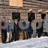Provided photo<br /> <br /> Shown in front of the partially restored 1835 Miller log cabin are, from left, DeKalb County Forest Preserve superintendent Terry Hannan, and donors Dan Templin of the DeKalb County Community Foundation, Arden Awe of the Ney Grange, Dr. John Ovitz and wife Jane, Cheryl Nicholson, Forest Preserve committee chair Julia Fauci, Steve Braser, Tonda Bruch and Jim MacMurdo from Kishwaukee Sunrise Rotary.  Another major contributor J. Ellwood Towle was not present for the photo.