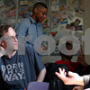 Kyle Bursaw – kbursaw@shawmedia.com<br /> <br /> Northern Illinois students Ryan Mishler (from left) Jesse Guice and Chris Walker hang out in the LGBT Resource Center on the seventh floor of the Holmes Student Center on Friday, April 6, 2012.