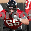 Rob Winner – rwinner@shawmedia.com<br /> <br /> Wes Ott during the Northern Illinois football team's first practice of the spring Wednesday, March 28, in DeKalb, Ill.