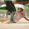 Rob Winner – rwinner@shawmedia.com<br /> <br /> DeKalb baserunner Sabrina Killeen (11) advances to third base after a ground ball by teammate Hannah Walter (not pictured) during the first inning Tuesday in DeKalb. LaSalle-Peru defeated DeKalb, 8-1.