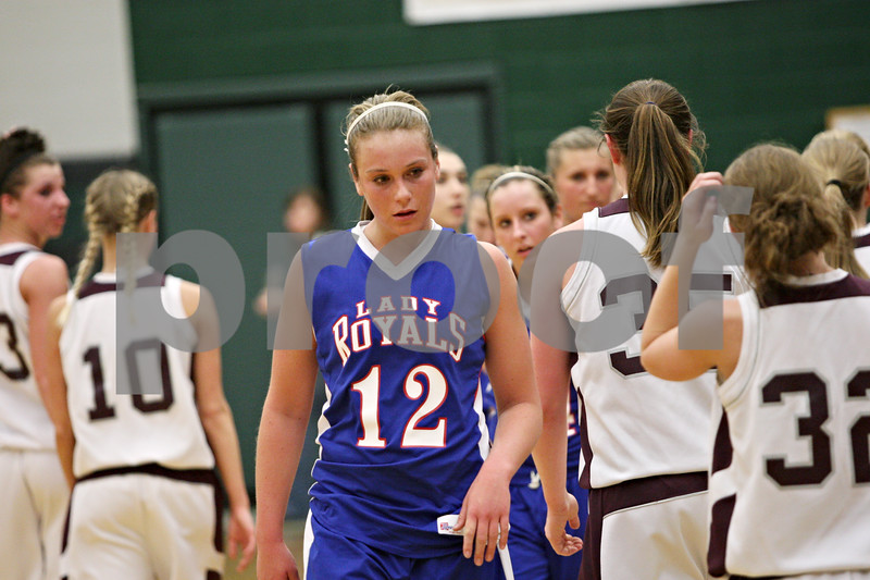 Rob Winner – rwinner@shawmedia.com<br /> <br /> Hinckley-Big Rock's Katie Hollis leaves the court after the Lady Royals' fell to Annawan during the Class 1A Varna Sectional semifinal on Tuesday night.