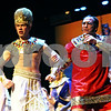 "Rob Winner – rwinner@shawmedia.com<br /> <br /> Jacob Austin (left), playing Joseph, and Andy Small, playing the Pharaoh, rehearse a scene from ""Joseph and the Amazing Technicolor Dreamcoat ,"" at Northern Illinois University's O'Connell Theatre, Stevens Building on the DeKalb campus on Tuesday night. ""Joseph "" is being presented by CCT's Stage Right Theatre and will run Jan. 6-8 and 13-15 at the O'Connell Theatre."
