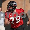 Rob Winner – rwinner@shawmedia.com<br /> <br /> Matt Krempel during the Northern Illinois football team's first practice of the spring Wednesday, March 28, in DeKalb, Ill.