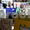 Kyle Bursaw – kbursaw@shawmedia.com<br /> <br /> Cele Meyer, one of the cofounders of the DeKalb Interfaith Network for Peace and Justice, has accumulated a number of signs over the years. For the past ten of those years the network has been holding a weekly peace vigil every friday since December of 2001.