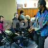 Jeff Engelhardt – jengelhardt@shawmedia.com<br /> Shanta Nurullah plays the mbira during her presentation of African folk tales Sunday at the DeKalb Public Library.