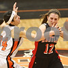 Rob Winner – rwinner@shawmedia.com<br /> <br /> DeKalb's Rachel Torres (34) pressures Huntley's Haley Ream (12) in the second quarter during the Class 4A DeKalb Regional final on Thursday, Feb. 16, 2012. DeKalb defeated Huntley, 55-40.