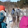 Rob Winner – rwinner@shawmedia.com<br /> <br /> XXXXXX, pause for a moment while on a hike during an Adventure Works outing at Afton Forest Preserve in DeKalb Saturday, Jan. 28. Adventure Works of DeKalb County is a therapy program that assists at-risk youth by participating in outdoor activities.