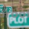Kyle Bursaw – kbursaw@shawmedia.com<br /> <br /> Signs identify the plots at the community gardens on West Dresser Road in DeKalb.<br /> <br /> Monday, April 9, 2012.