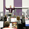 Rob Winner – rwinner@shawmedia.com<br /> <br /> Ken Goodman leads a group of fifth graders during band practice at Sycamore Middle School on Tuesday afternoon.