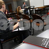 Kyle Bursaw – kbursaw@shawmedia.com<br /> <br /> A pamphlet titled 'The Declaration of the Occupation of New York City' that was available to attendees of a teach-in sits on a table as Camille Piazza talks about the Occupy movement in the Campus Life building at Northern Illinois on Thursday, March 29, 2012.