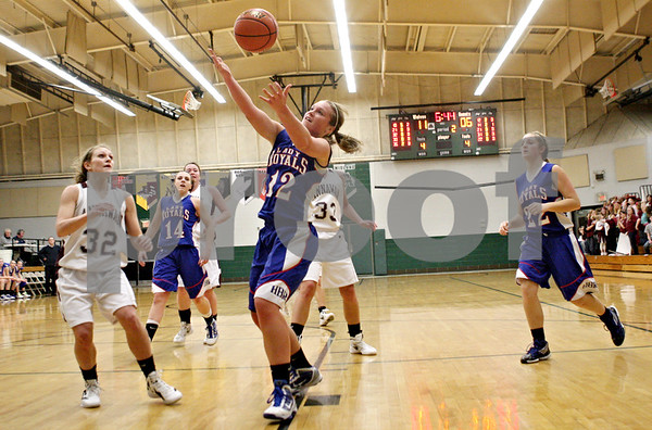 Rob Winner – rwinner@shawmedia.com<br /> <br /> Hinckley-Big Rock's Katie Hollis tries to control a pass in the second quarter during the Class 1A Varna Sectional semifinal on Tuesday night.