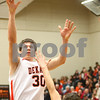 Kyle Bursaw – kbursaw@shawmedia.com<br /> <br /> DeKalb forward Jake Carpenter goes for a shot in the third quarter.<br /> DeKalb defeated Sycamore 41-36 at DeKalb High School on Friday, Feb. 24, 2012.