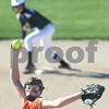 Kyle Bursaw – kbursaw@shawmedia.com<br /> <br /> A Kaneland runner gets ready to run to third as DeKalb pitcher Katie Kowalski winds up during the first inning of their game at Huntley Middle School on Thursday, April 5, 2012. Kaneland beat DeKalb 9-3.