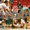 Rob Winner – rwinner@shawmedia.com<br /> <br /> Roosevelt forward Mykyta Cheshko (24) and Northern Illinois guard Aksel Bolin (32)struggle for a loose ball during the first half in DeKalb, Ill., on Monday, Jan. 2, 2012.