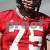 Rob Winner – rwinner@shawmedia.com<br /> <br /> Tyler Loos during the Northern Illinois football team's first practice of the spring Wednesday, March 28, in DeKalb, Ill.