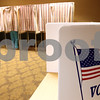 Kyle Bursaw – kbursaw@shawmedia.com<br /> <br /> A voter casts her ballot in the primary election at the Best Western on West Lincoln Highway on Tuesday, March 20, 2012.